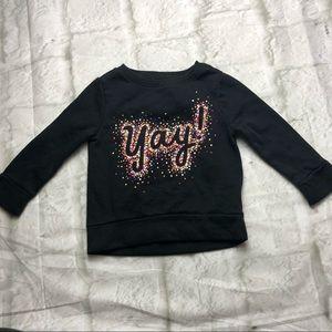 💥 5/$25 SALE! 2T YAY! black crewneck sweatshirt
